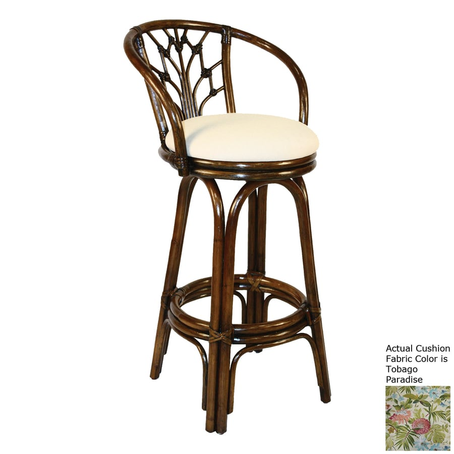Hospitality Rattan Valencia Antique 24-in Counter Stool