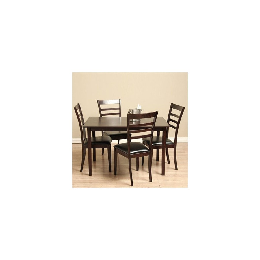 Warehouse of Tiffany Crystal Light Cappuccino Dining Set