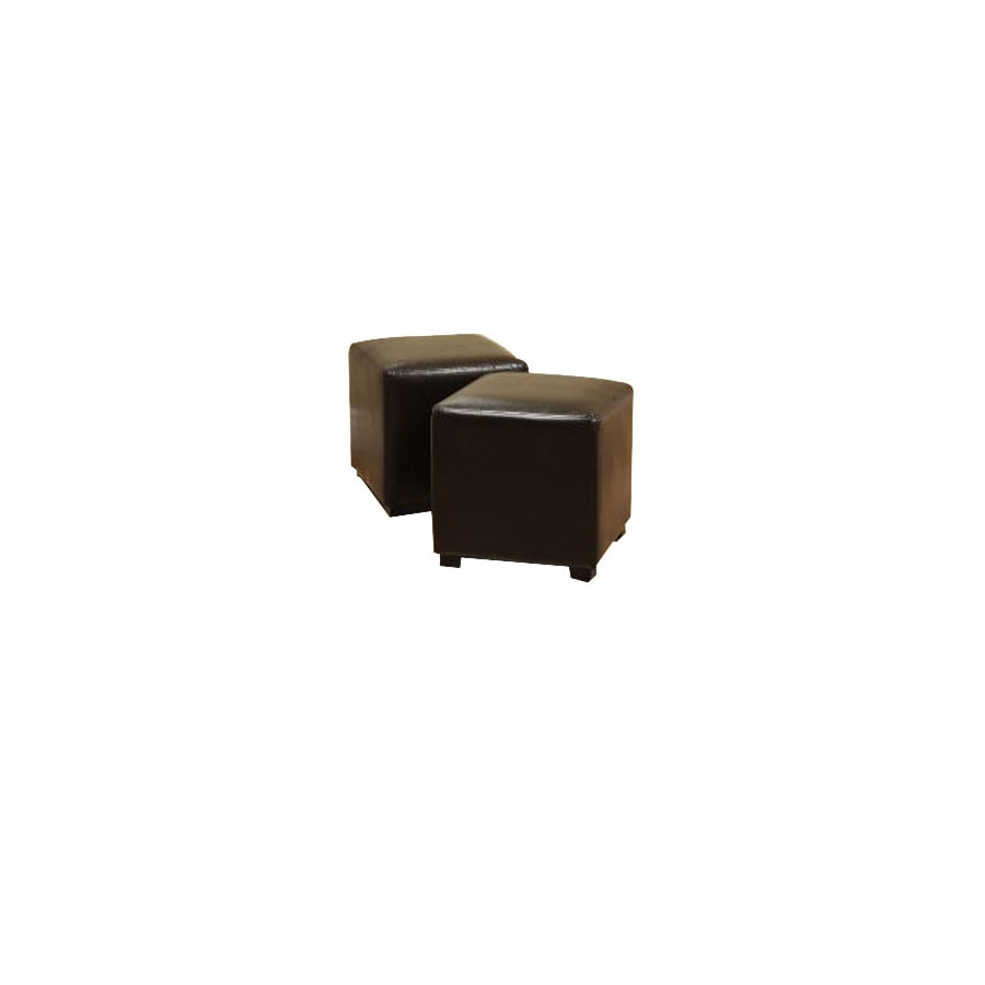 Warehouse of Tiffany Helen Dark Brown Square Ottoman