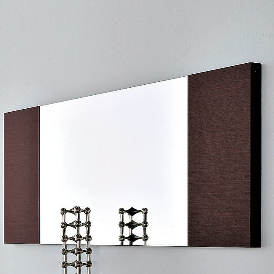 Rossetto USA 51.2-in x 19.7-in Wenge Rectangle Frameless Wall Mirror