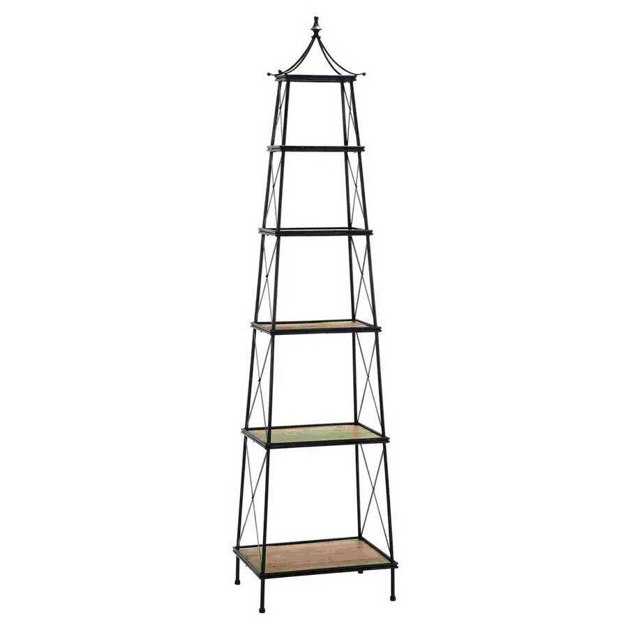 Woodland Imports 81-in H x 20-in W x 15-in D 5-Tier Freestanding Shelving Unit