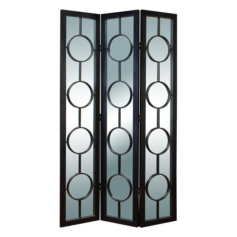 Woodland Imports 3-Panel Ebony Wood Folding Indoor Privacy Screen