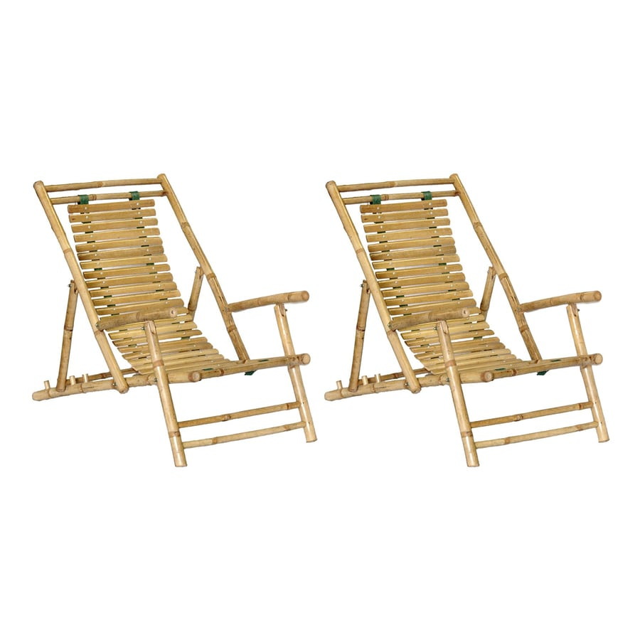 Bamboo 54 Natural Bamboo Folding Beach Chair