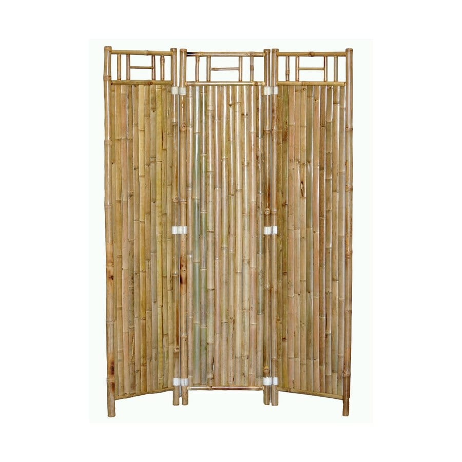 Bamboo 54 3-Panel Natural Oil Bamboo Folding Indoor Privacy Screen