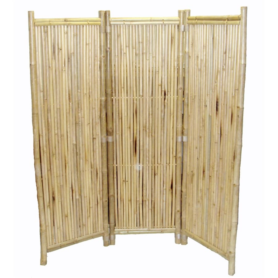 shop bamboo 54 3 panel natural oil bamboo folding indoor