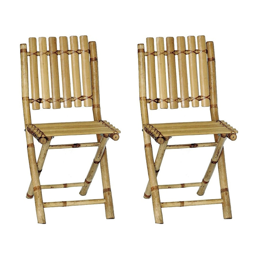 shop bamboo 54 natural bamboo folding beach chair at lowes com