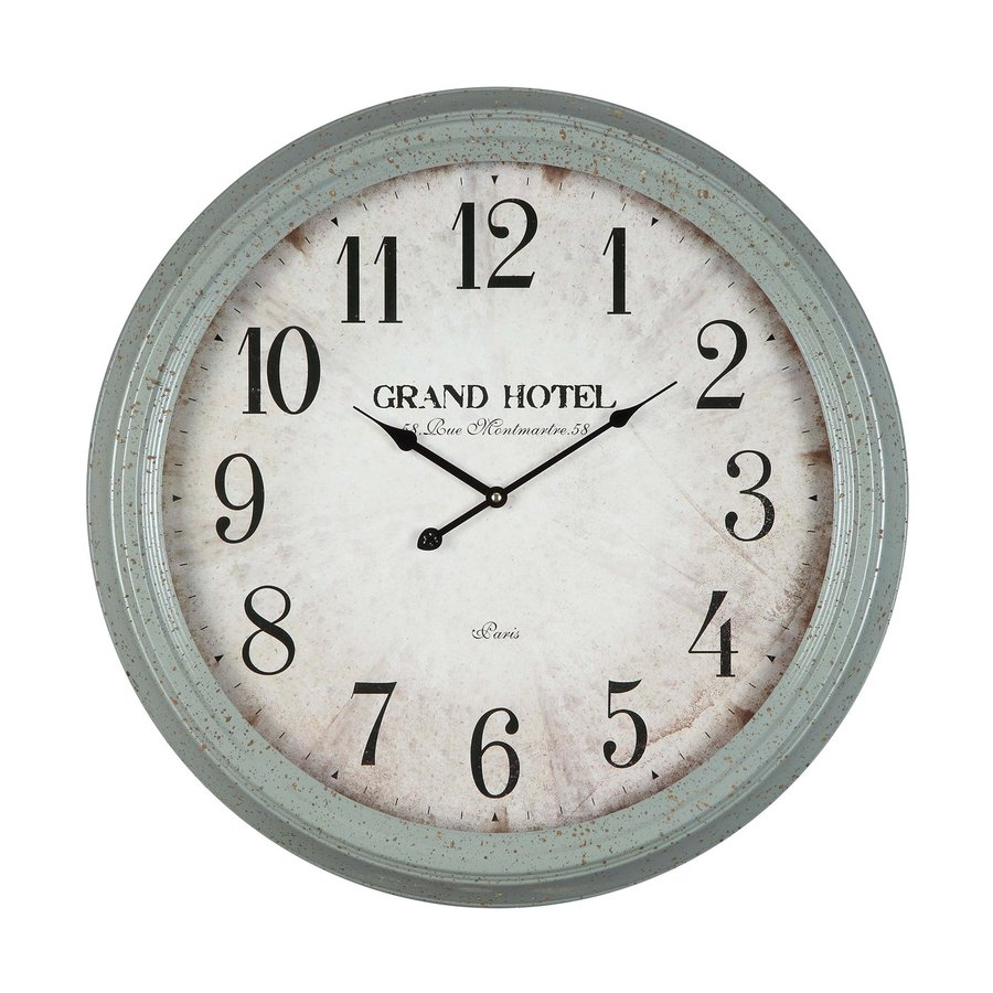Cooper Classics Asher Analog Round Indoor Wall Standard Clock