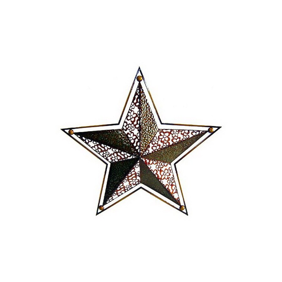 Cheung's 27-in W x 25.75-in H Frameless Metal Star 3D Wall Art