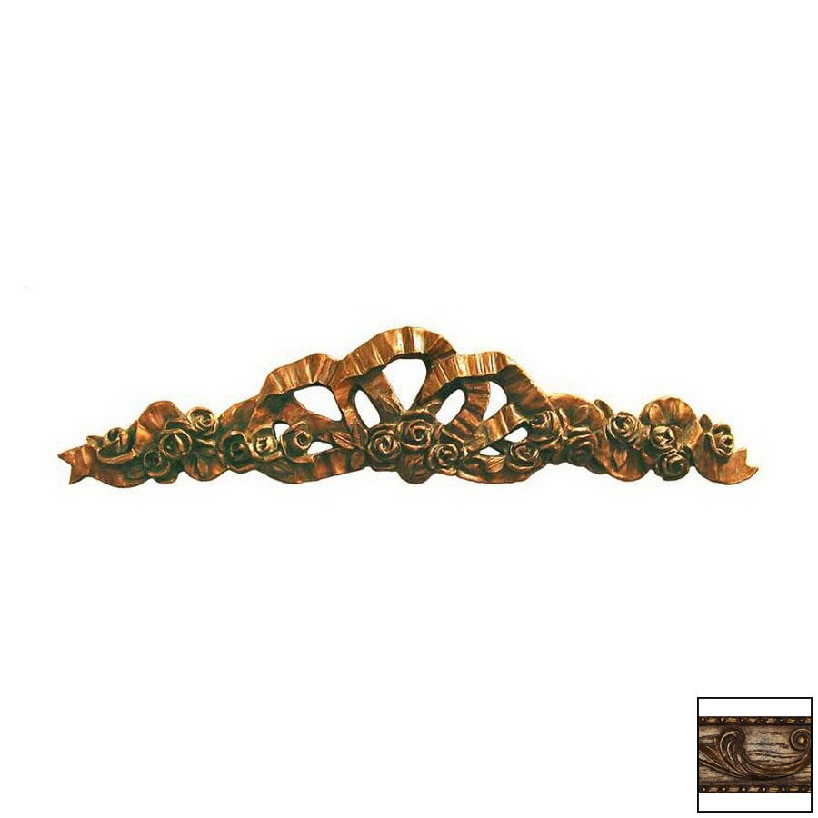 Hickory Manor House 35-in W x 7-in H Frameless Floral Ribbon Sculptural Wall Art