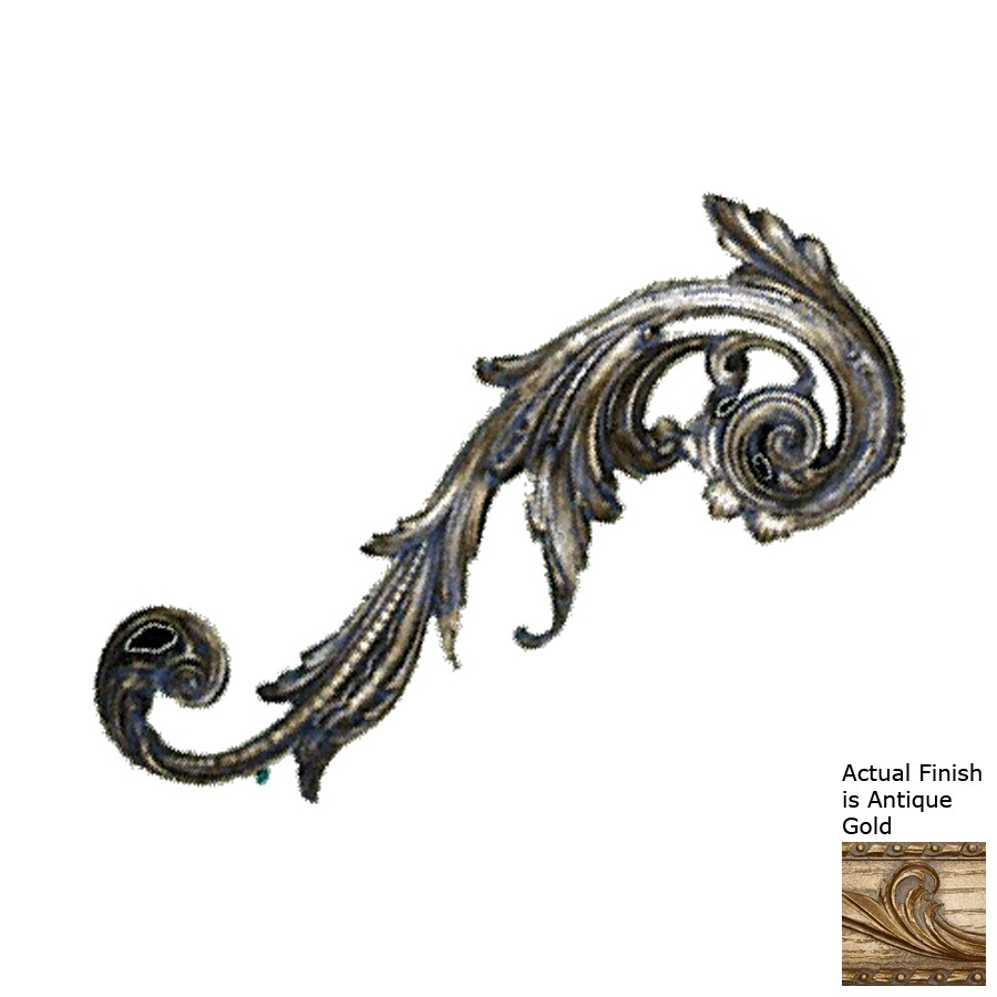 Hickory Manor House 9-in W x 24-in H Frameless Resin Embellished Scroll 3D Wall Art