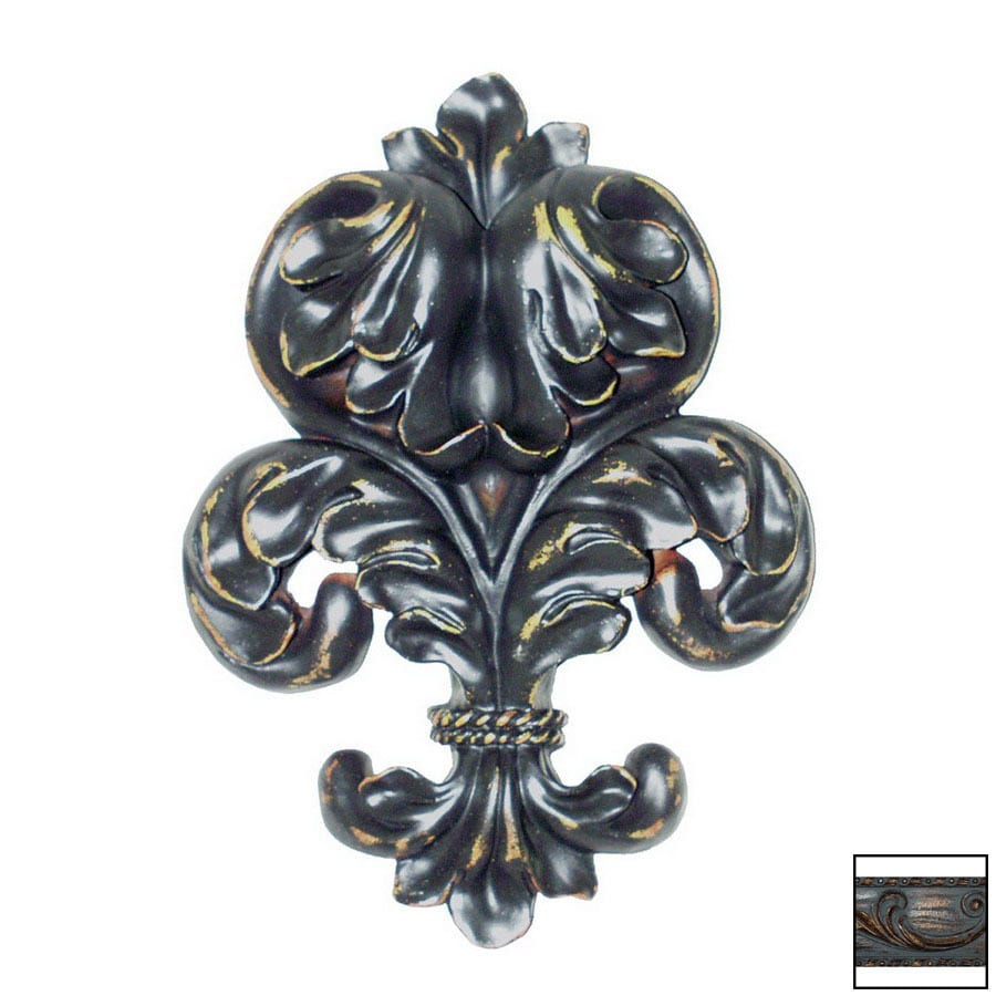 Hickory Manor House 7-in W x 9-in H Frameless Scroll Leaf Sculptural Wall Art