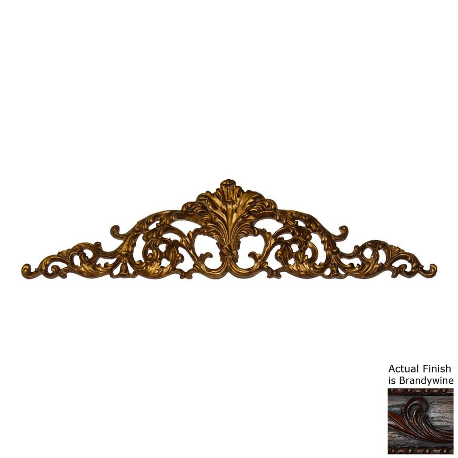 Hickory Manor House 32-in W x 8-in H Frameless Resin Open Leaf Acanthus 3D Wall Art
