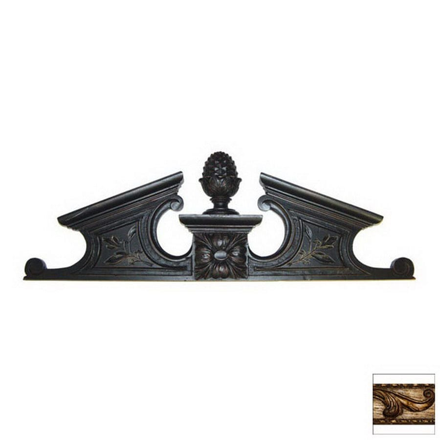 Hickory Manor House 23.5-in W x 7.875-in H Frameless Pineapple Pediment Sculptural Wall Art