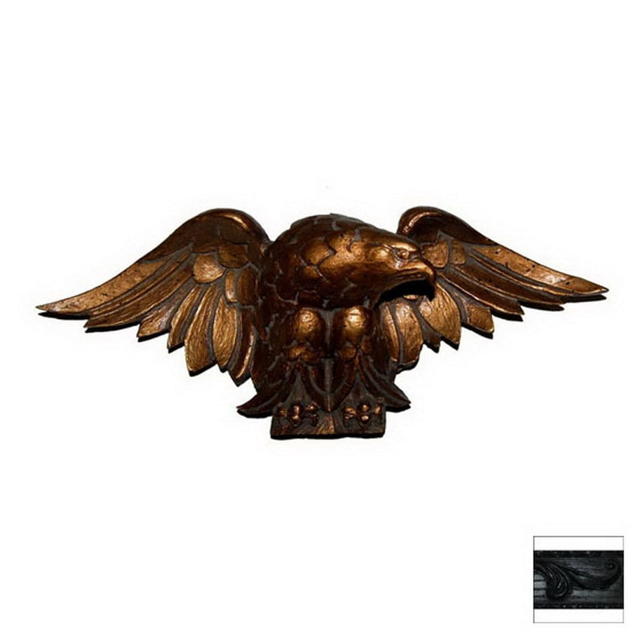 Hickory Manor House 14-in W x 6-in H Frameless Eagle Carving Sculptural Wall Art