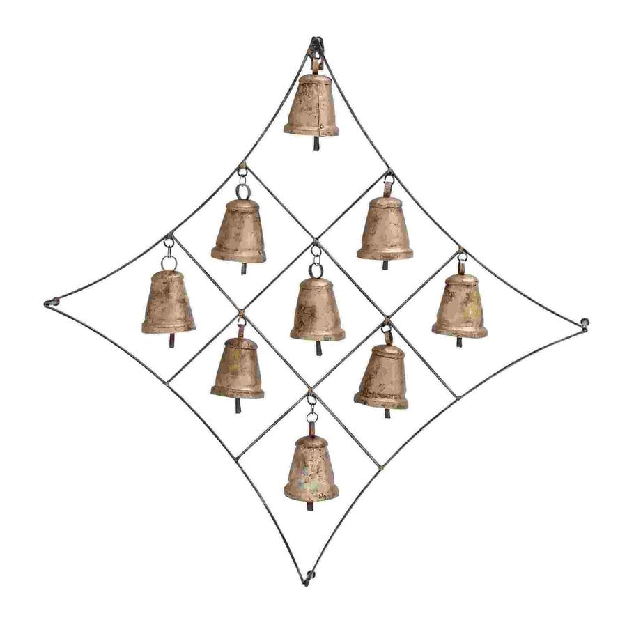 Woodland Imports 25-in W x 25-in H Frameless Metal Bells 3D Wall Art