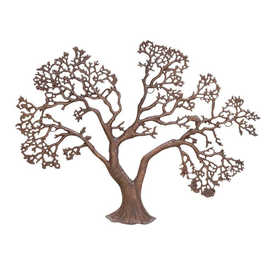 Woodland Imports 31-in W x 25-in H Frameless Metal Tree Sculptural Wall Art