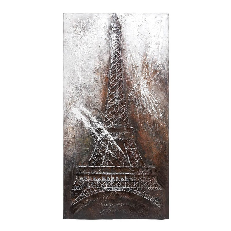 Woodland Imports 40-in W x 79-in H Frameless Canvas Eiffel Tower Print Wall Art