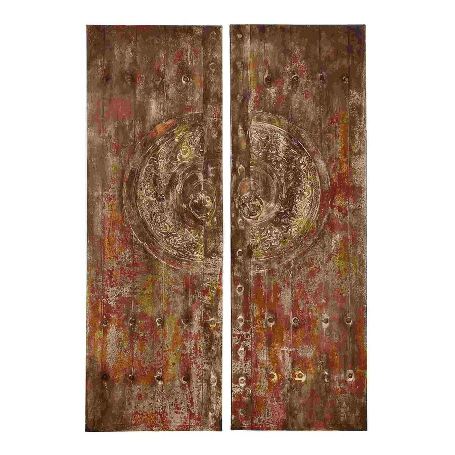 Woodland Imports 2-Piece 20-in W x 59-in H Frameless Canvas Abstract Print Wall Art