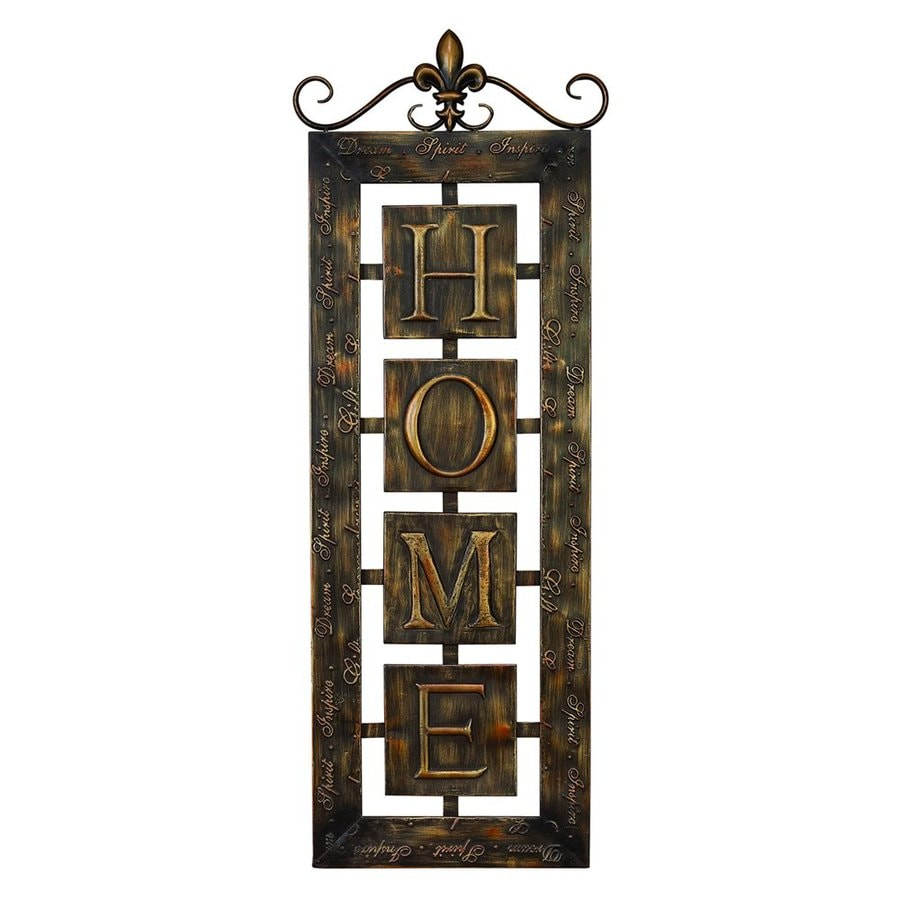 Woodland Imports 15-in W x 39-in H Frameless Metal Home Sign Wall Art