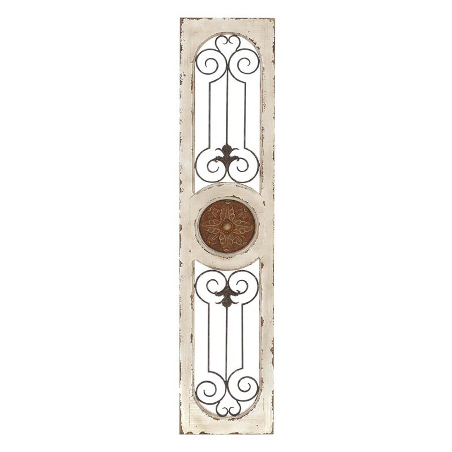 Woodland Imports 12-in W x 58-in H Frameless Wood Abstract 3D Wall Art