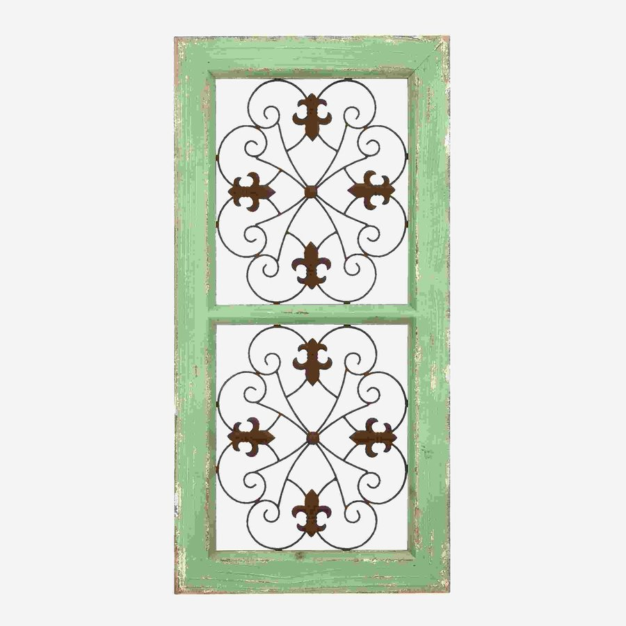 Woodland Imports 16-in W x 31-in H Framed Metal Abstract 3D Wall Art