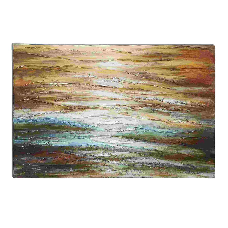 Woodland Imports 47-in W x 32-in H Frameless Canvas Lines and Waves Print Wall Art