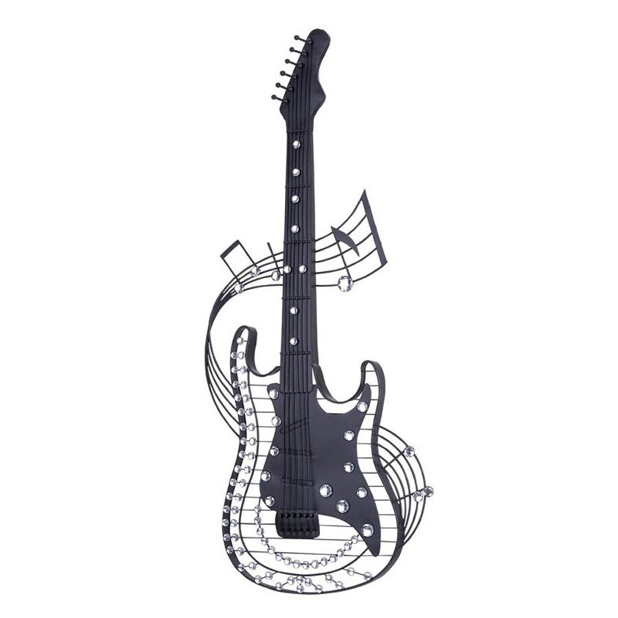 Woodland Imports 14-in W x 36-in H Frameless Metal Guitar 3D Wall Art