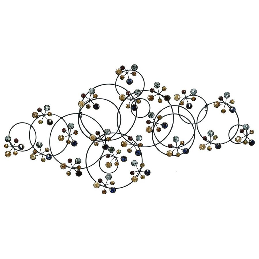 Woodland Imports 51-in W x 27-in H Frameless Metal Ceramic Beads 3D Wall Art