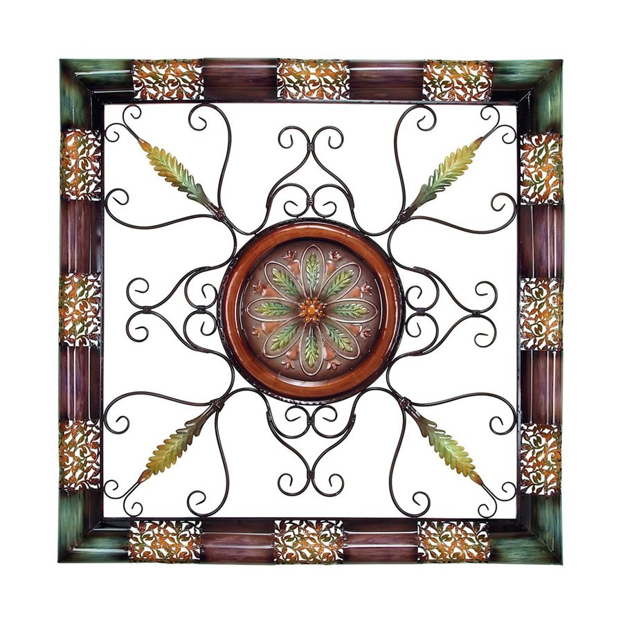 Woodland Imports 45-in W x 45-in H Framed Metal Abstract 3D Wall Art