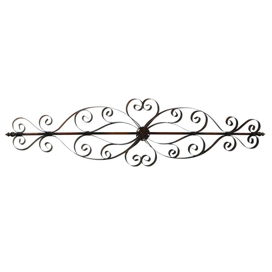 Woodland Imports 57-in W x 15-in H Frameless Metal Scoll Design 3D Wall Art