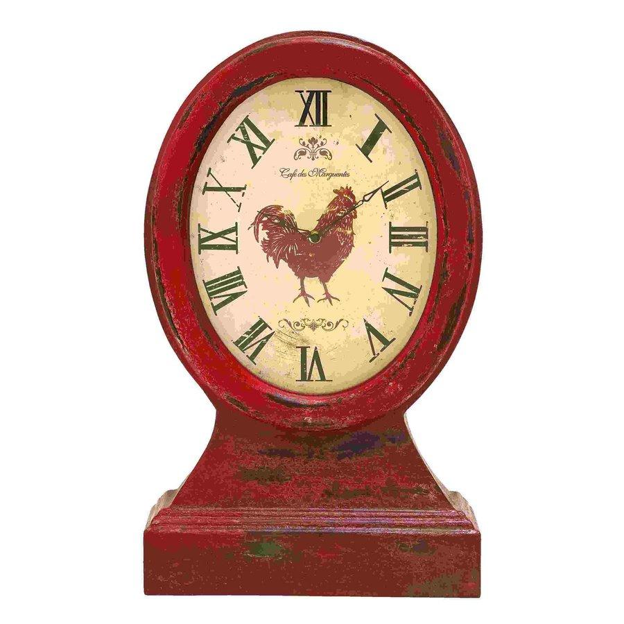Woodland Imports Farmer Analog Round Indoor Tabletop Clock