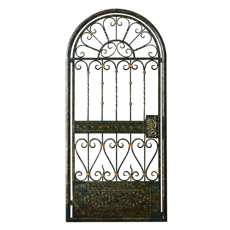 Woodland Imports 26-in W x 55-in H Frameless Metal Gate Door 3D Wall Art