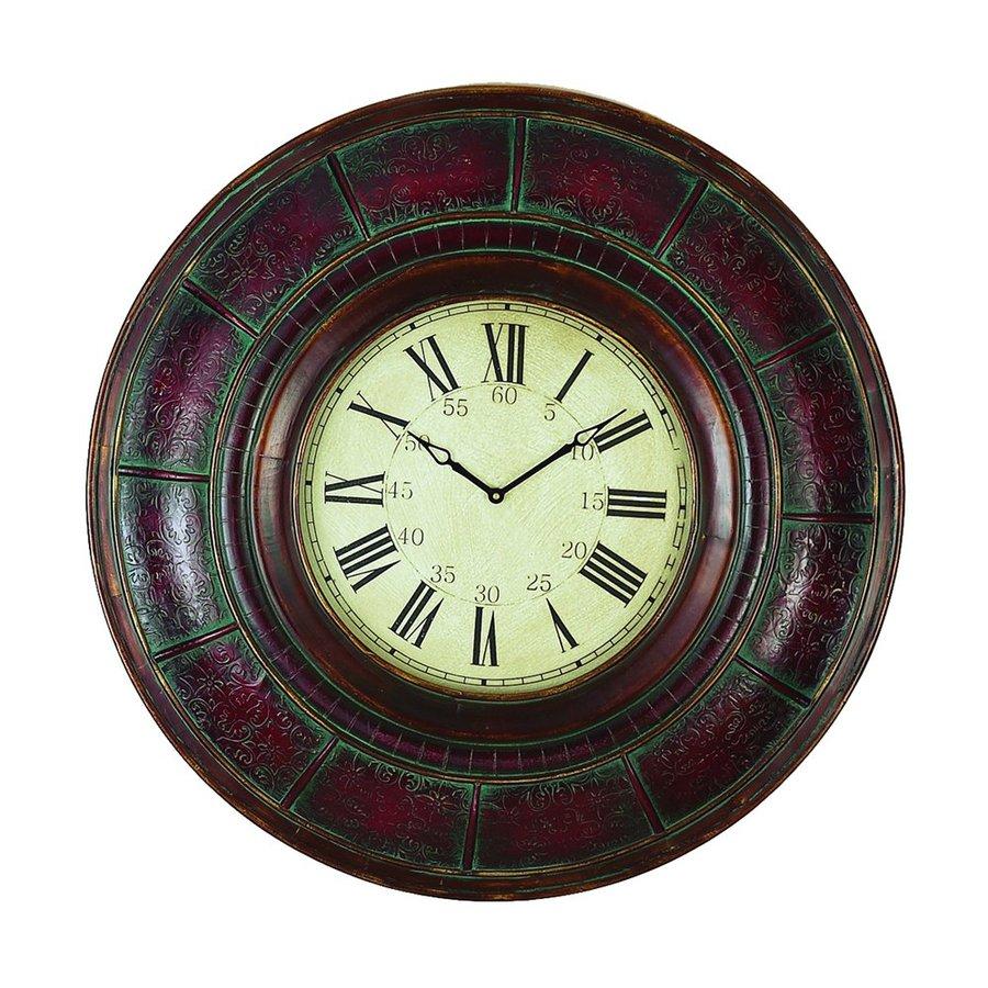 Woodland Imports Analog Round Indoor Wall Standard Clock