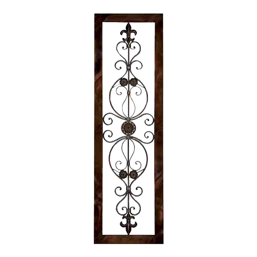 Shop woodland imports 18 in w x 62 in h framed metal wall for 3 d wall art