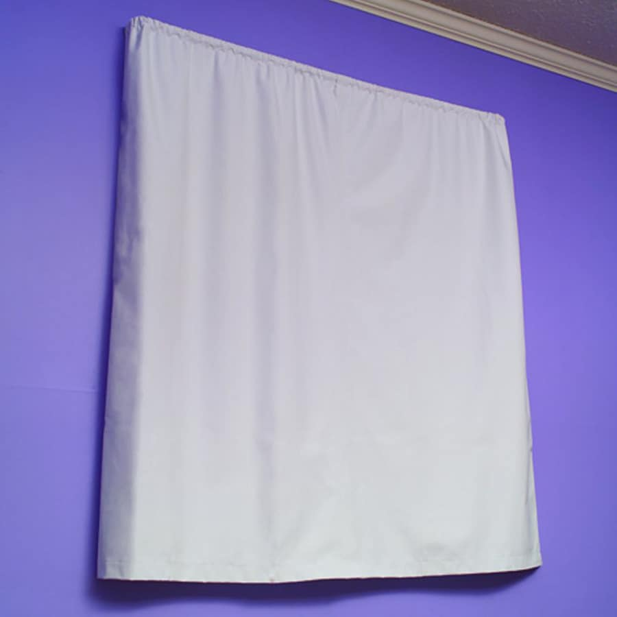 Redmon 60-in L Solid White Tab Top Window Curtain Panel