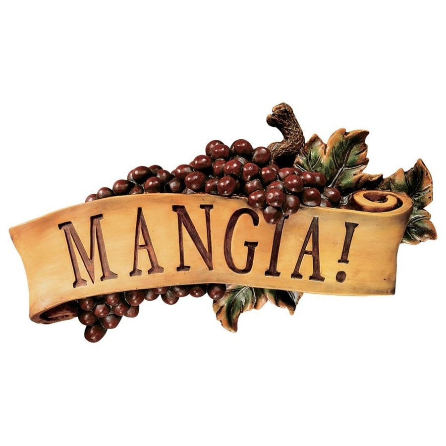 Design Toscano 12.5-in W x 7-in H Frameless Resin Mangia Sign Wall Art