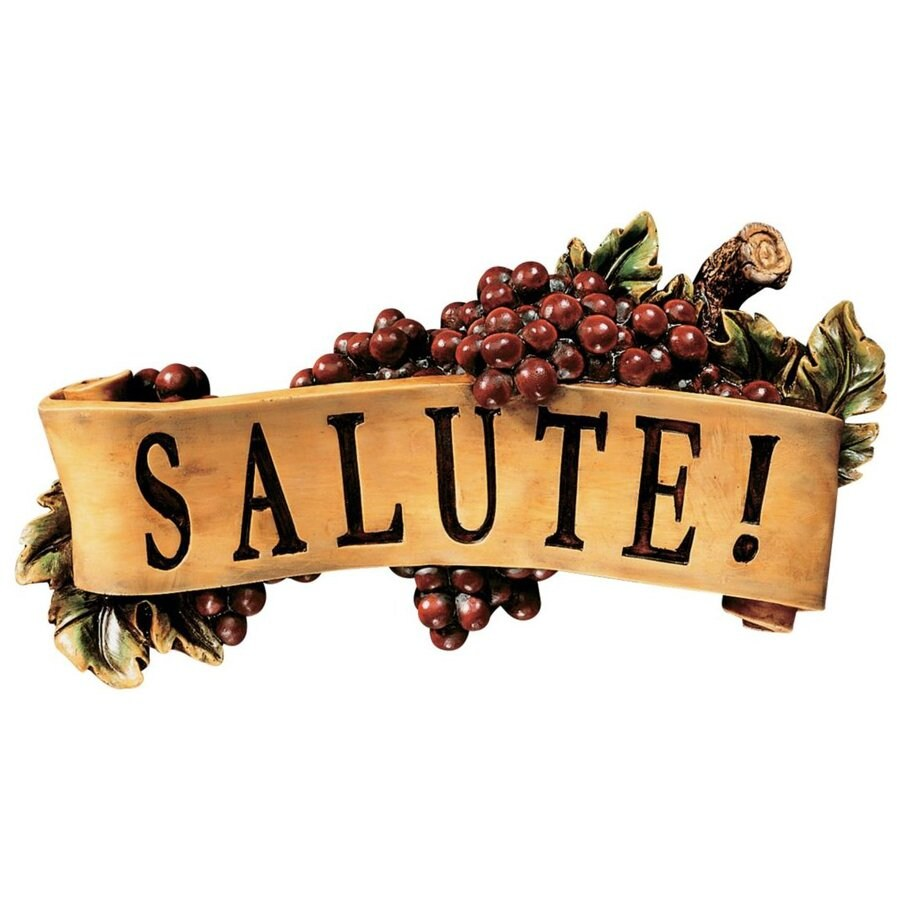 Design Toscano 12.5-in W x 7-in H Frameless Resin Salute Sign Wall Art