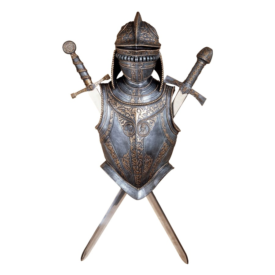 Design Toscano 14-in W x 32-in H Frameless Resin Nunsmere Hall 16Th Century Battle Armor Sculpture Wall Art