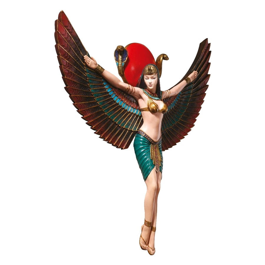 Design Toscano 12.5-in W x 14.5-in H Frameless Resin Goddess Isis Sculpture Wall Art