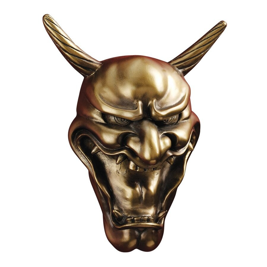 Design Toscano 7.5-in W x 9.5-in H Frameless Resin Kagura Hannya Demon Mask Sculpture Wall Art