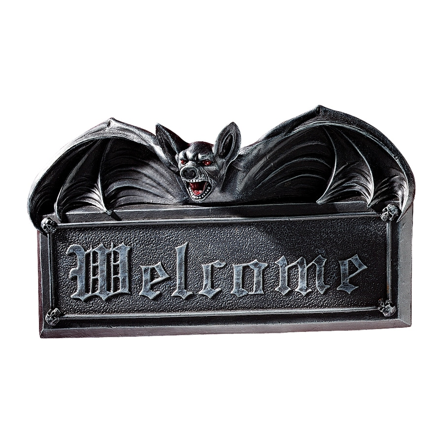 Design Toscano 10.5-in W x 5.5-in H Frameless Resin Vampire Bat Welcome Sign Wall Art