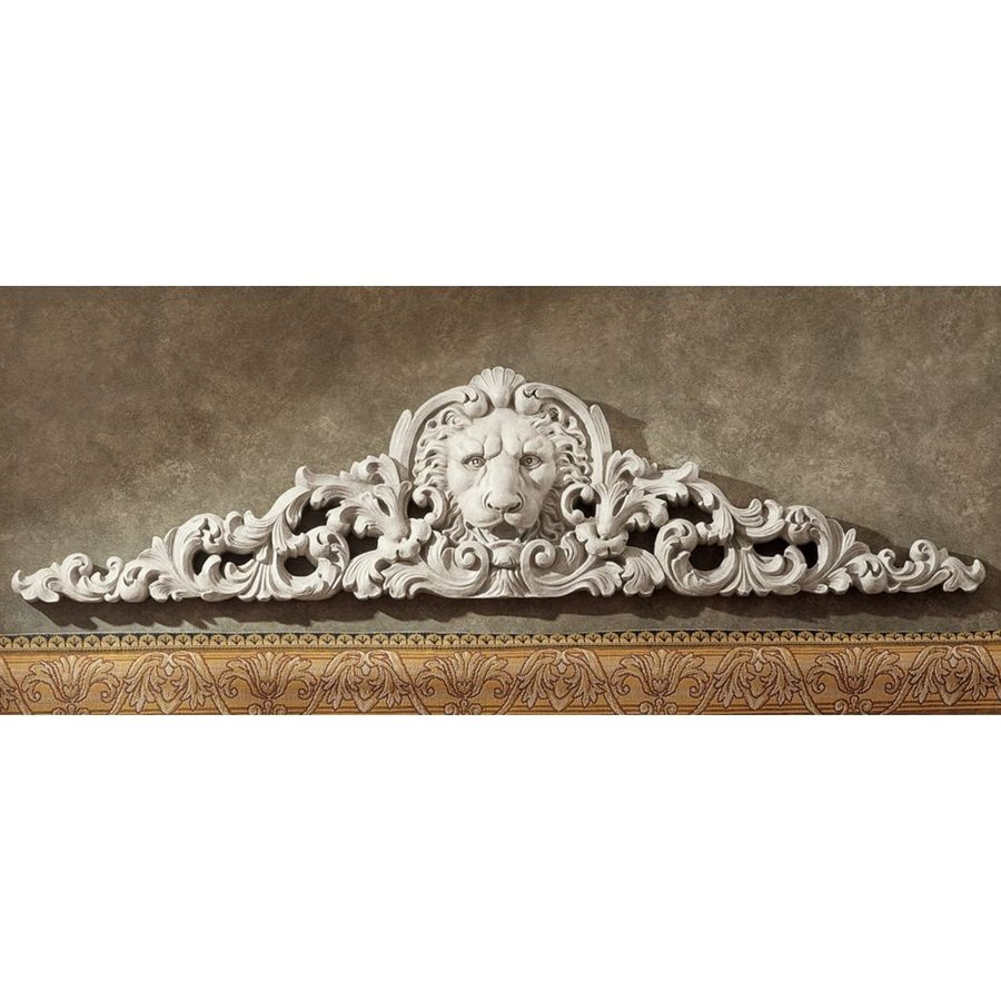 Design Toscano 38-in W x 9.5-in H Frameless Resin Remoulage Lion Sculpture Wall Art