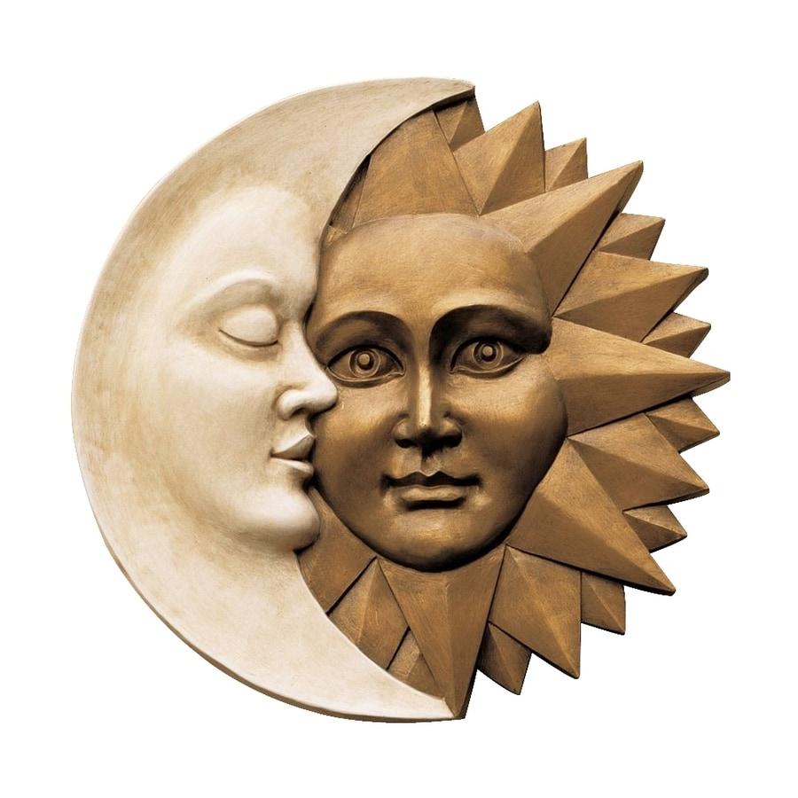 Design Toscano 15.5-in W x 15.5-in H Frameless Resin Celestial Harmony Sculpture Wall Art
