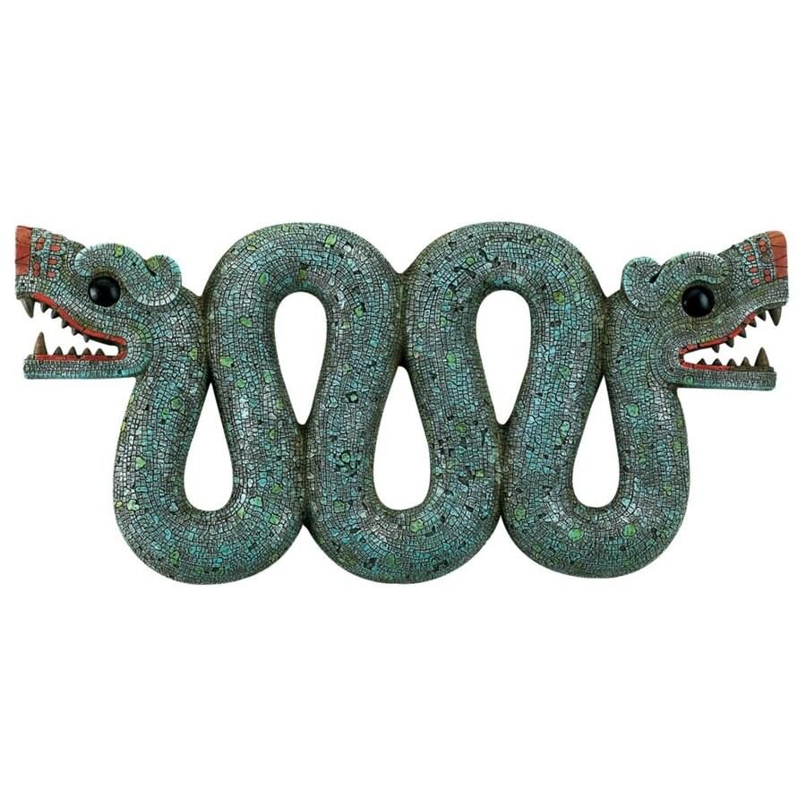 Design Toscano 16.5-in W x 7.5-in H Frameless Resin Aztec Double-Headed Serpent Sculpture Wall Art