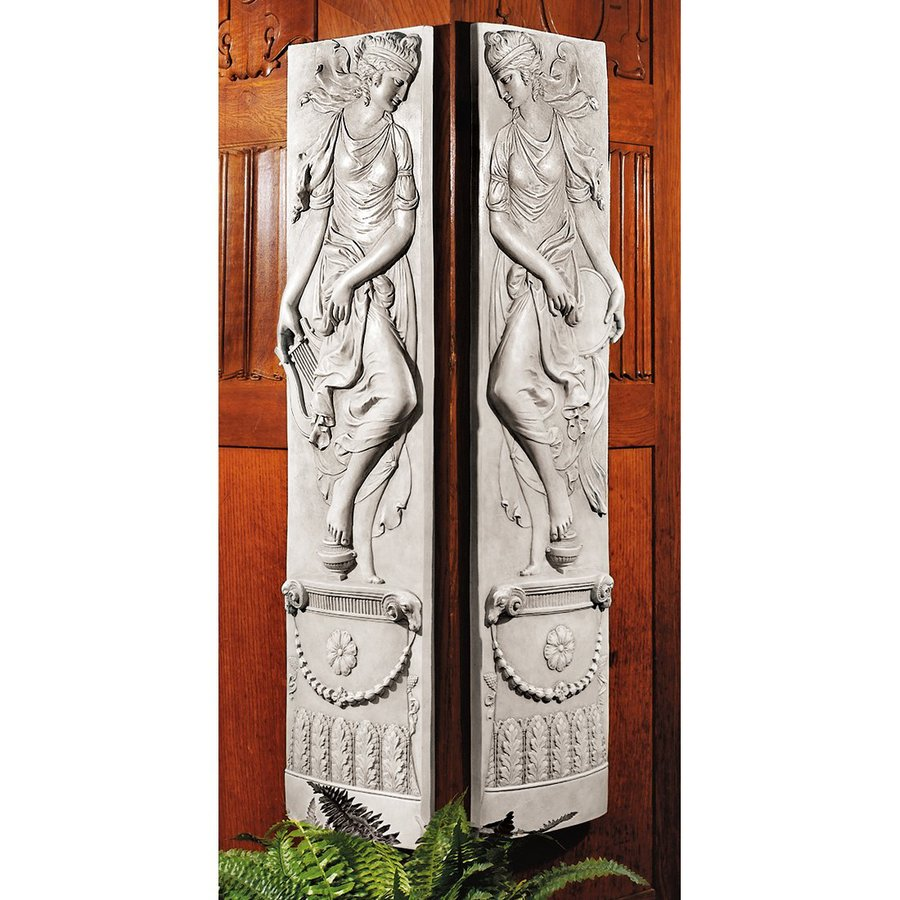 Design Toscano 2-Piece 11.5-in W x 48-in H Frameless Resin Dionysia Festival Sculpture Wall Art