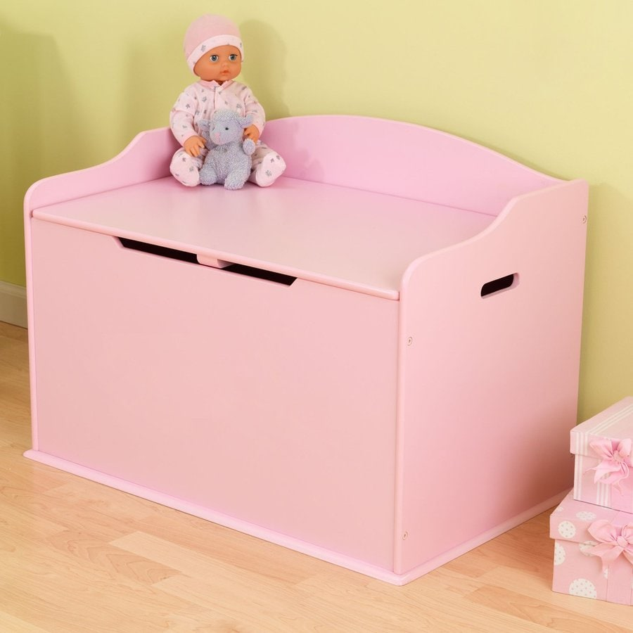 Shop KidKraft Austin Pink Rectangular Toy Box at Lowes.com