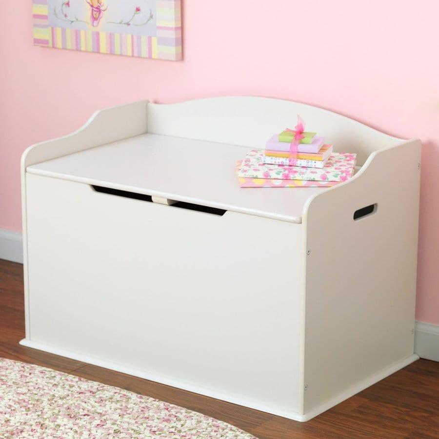 KidKraft Austin Vanilla Rectangular Toy Box