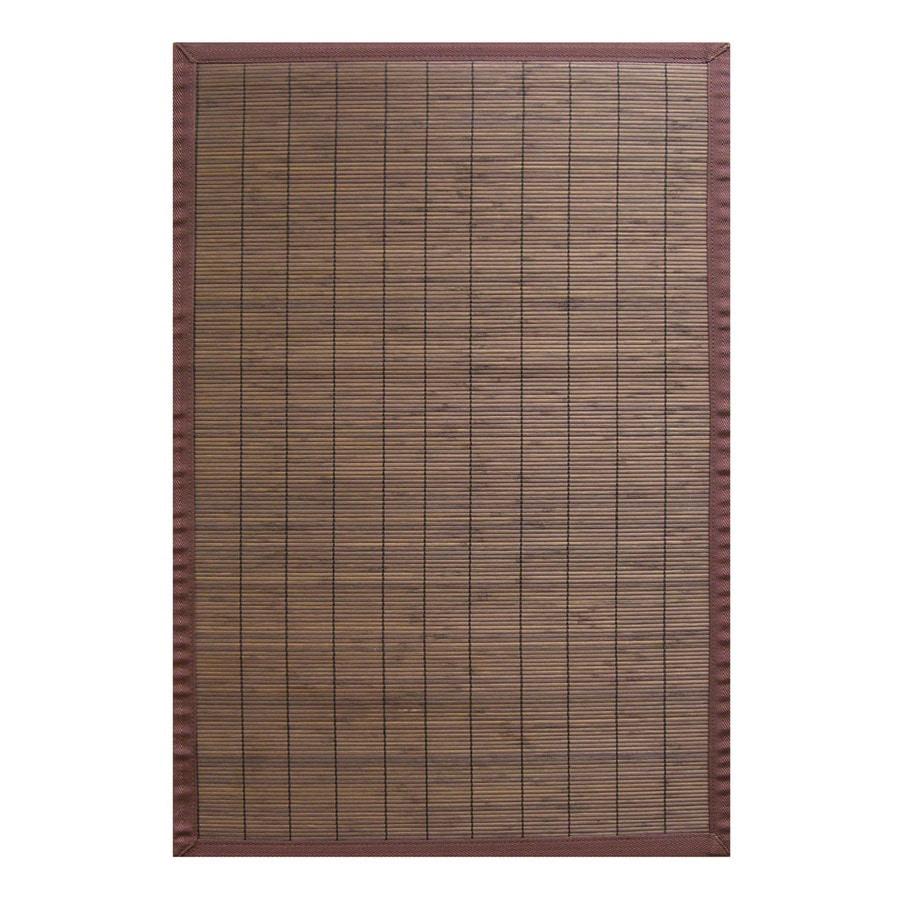 Anji Mountain Bamboo Rugs Rectangular Indoor Woven Throw Rug (Common: 2 x 3; Actual: 24-in W x 36-in L x Dia)
