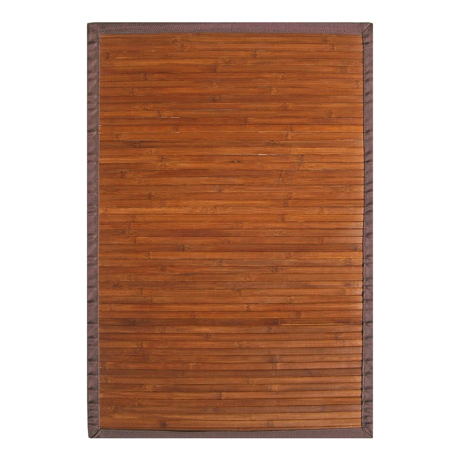Anji Mountain Chocolate Rectangular Indoor Woven Oriental Area Rug (Common: 5 x 8; Actual: 60-in W x 96-in L)