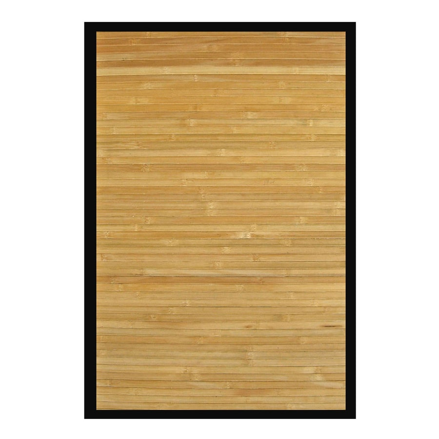Anji Mountain Natural Rectangular Indoor Woven Oriental Area Rug (Common: 4 x 6; Actual: 48-in W x 72-in L)